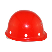Red types of safety helmet for construction workers
