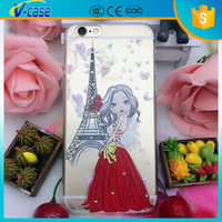 With printing matte hard cover case for alcatel one touch pop c9