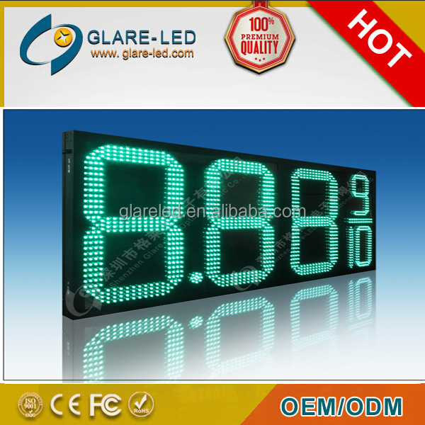 "Custom Made Gas Price 10"" Led Signs for gas station advertising"