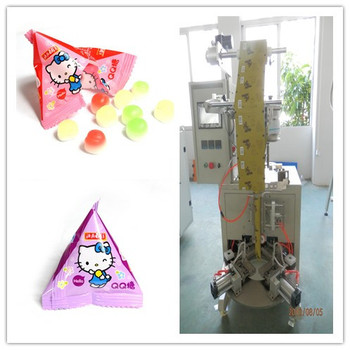 China supply Triangle bag soft sweets vertical packaging machine