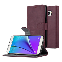 Note 5 Case , Custom PU Leather Flip Standing Cove Case For Samsung Galaxy Note 5