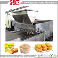 Direct manufacture automatic cup cake machine bakery equipment prices