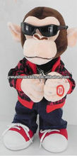 Promotional&cute plush monkey with dancing gangnamstyle