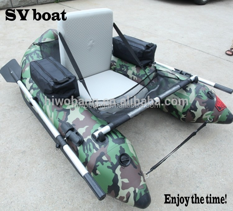 Korean PVC Camouflage Style Single Person Belly Boat for fishing