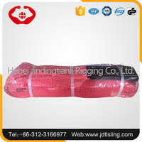 Lifting flat webbing sling belt polyester material for lifting heavy cargo
