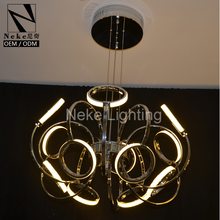 Alibaba china 80W circle aluminum led decoration chandelier