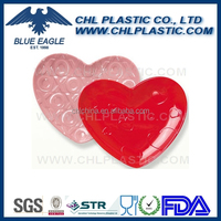 Heart shape solid color melamine plate