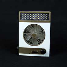 Factory Supply CE ROHS wholesale powerful table fan 30SMD+1LED super bright mini solar fan with light