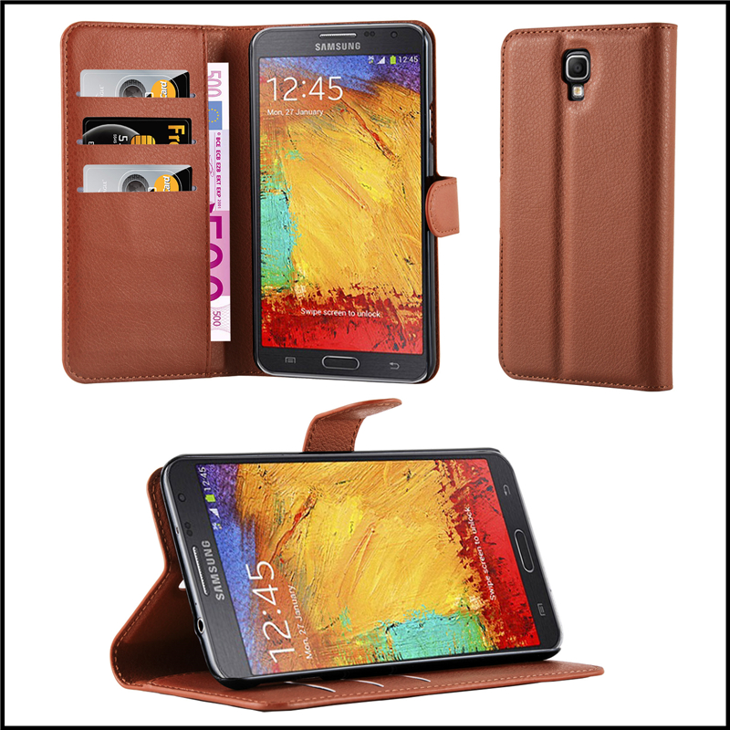Premium Wallet Leather Mobile Phone Case Cover for Samsung Galaxy Note 3