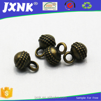Fancy metal thread round ball shape button for shirt ,for garments