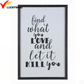 black framed wall positive quotes wall art