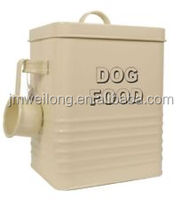 Household Metal Storage Box/ Rice Container with a scoop
