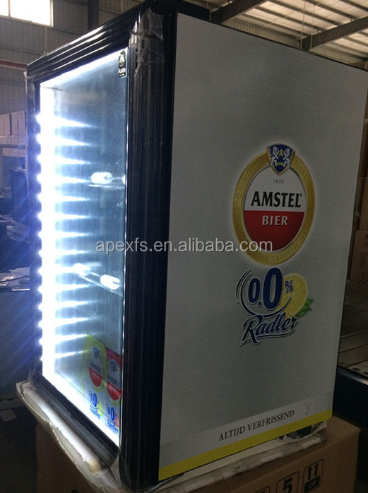 Table Top Glass Door hotel Mini Fridge for Drink Promotion