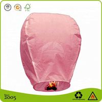 Chinese Biodegradable Paper wireless KONGMING flying Sky Lantern