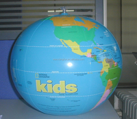 16 inch new design giant inflatable plastic earth globe