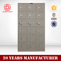 Hot sale metal storage 18 door bag locker for commercial luggage