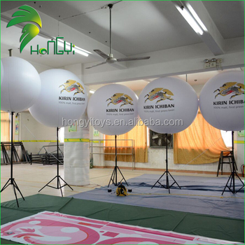 Adjustable RGB LED Lighting Inflatable Standing Balloon , Inflatable Tripod Stand Balloons For Sale