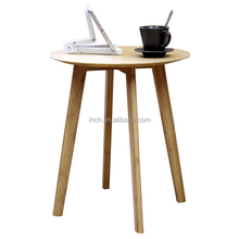 Scandinavian round design lacquer wooden coffee tables