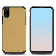 Dual Layer Super Protective Thick Armour Rugged PC Back Cover TPU Shockproof Bumper Cellphone Case for iPhone X