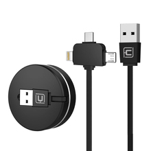 2018 Trending Mobile Phone Accessories Products Portable 3 in 1 Retractable Charging USB Cable for iphone Micro Type C