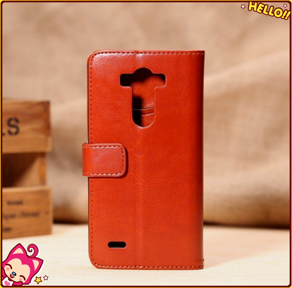 Flip PU Stand Leather Wallet case cover for LG G3 Stylus case