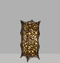 fashion hand-make rattan wicker table lamp for bedroom living room dinning room decorative