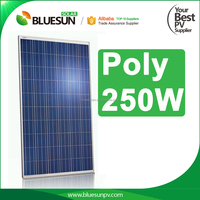 Bluesun best poly 250w price per watt with high efficiency solar panels made in china