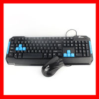 led gaming keyboard and mouse combo T-101M