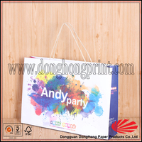 Luxury custom size shopping paper bag with cheap price