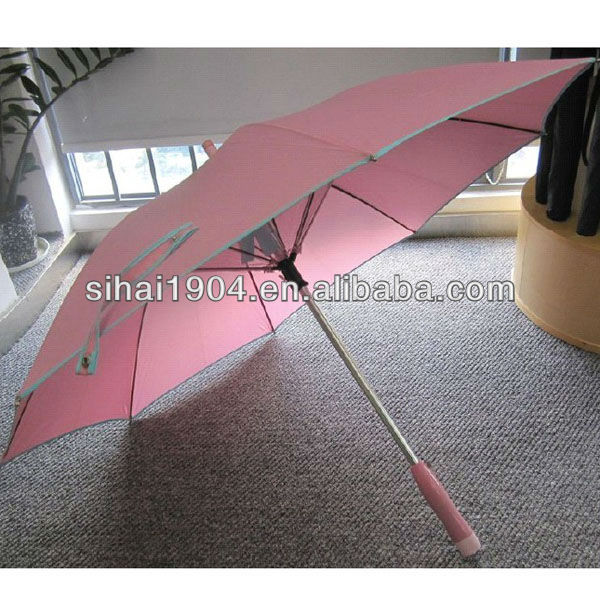 Use in the beach sun fan umbrella with electric fan for gifts