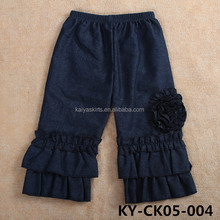 hot sale children denim persnickety remake boutique girl clothing