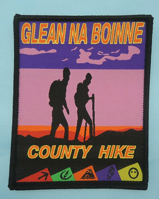 High density travel activity hike scout patch for uniform
