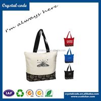China New Premium Superb Polyester Cotton Fabric Tote Bag