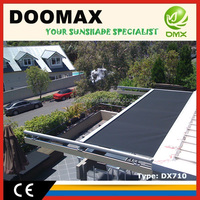 #DX710 Glass Roof Retractable Awnings Canopy Material