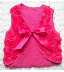 2015wholesale baby clothes, rosette shrugs ,kids clothing tops latest design