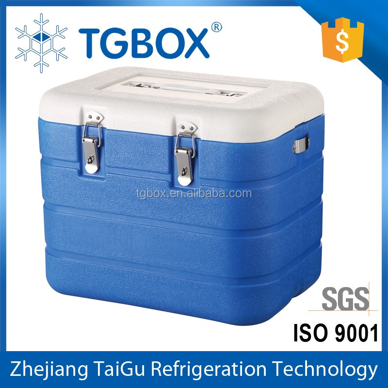 Taizhou Factory Blow Molding PU Cooler Box Portable Vaccine Ice Cooler