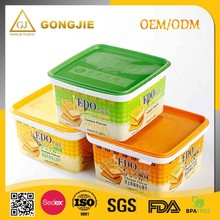 Plastic Biscuit Cookie Container With Lid, Accept OEM And Plastic Material Cookie Box