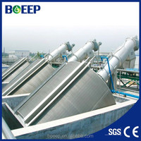 Rotary screen filter for waste water treatment