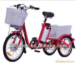 Smart lithium battery three wheels tricycle for old passenger