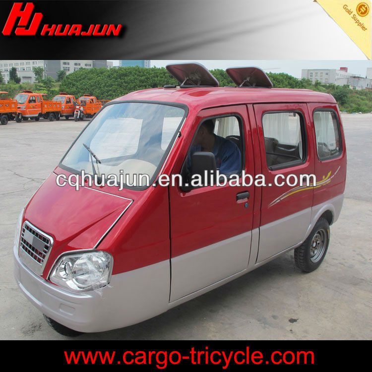 HUJU 200cc enclosed motor tricycle / truck passenger tricycle / enclosed motorcycle for sale
