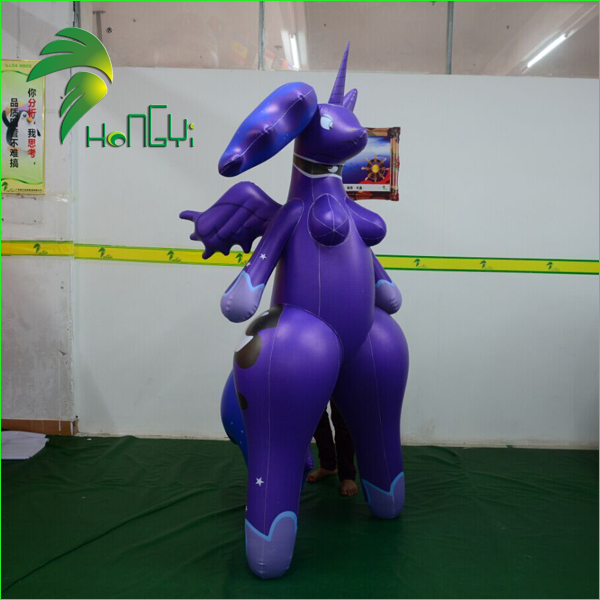 Inflatable Hongyi Toy / Sex Animal Purple Old Women SPH / Inflatable Unicorn Toy for Men