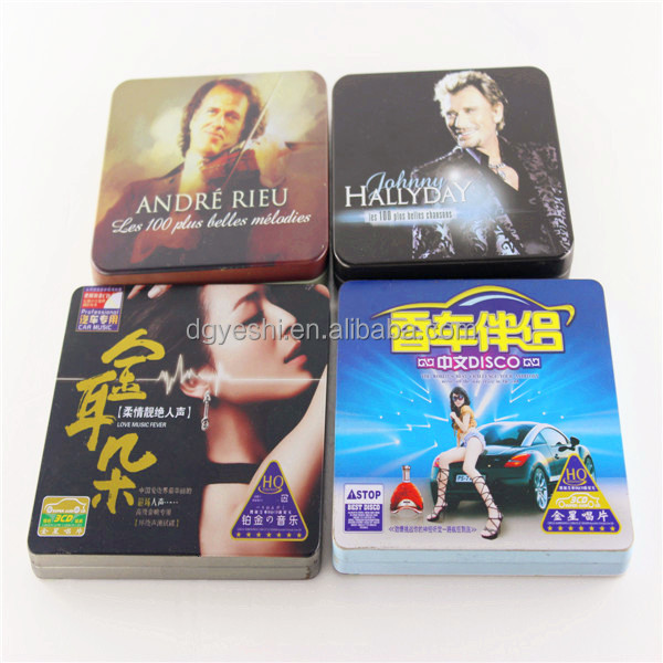2014 new design world cup cd storage case cd packing tin box wholesale distributor