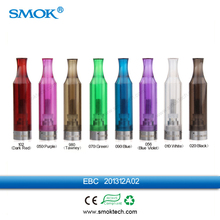 Good quality Smok EBC bottom coil 1.6ml clearomizer with single 1.8/2.0/2.4/3.0ohm chageable coil head big vapor