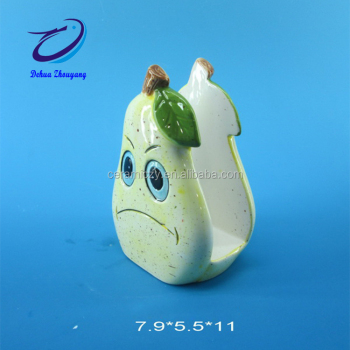 Pear Fruit Restaurant Simple Custom Ceramic Tissue funny napkin holder
