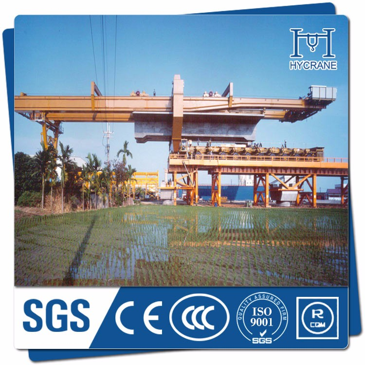 truss type viaduct bridge beam erector machine