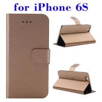 Cheapest product Wire Drawing Texture Leather phone case cover for iPhone 6S
