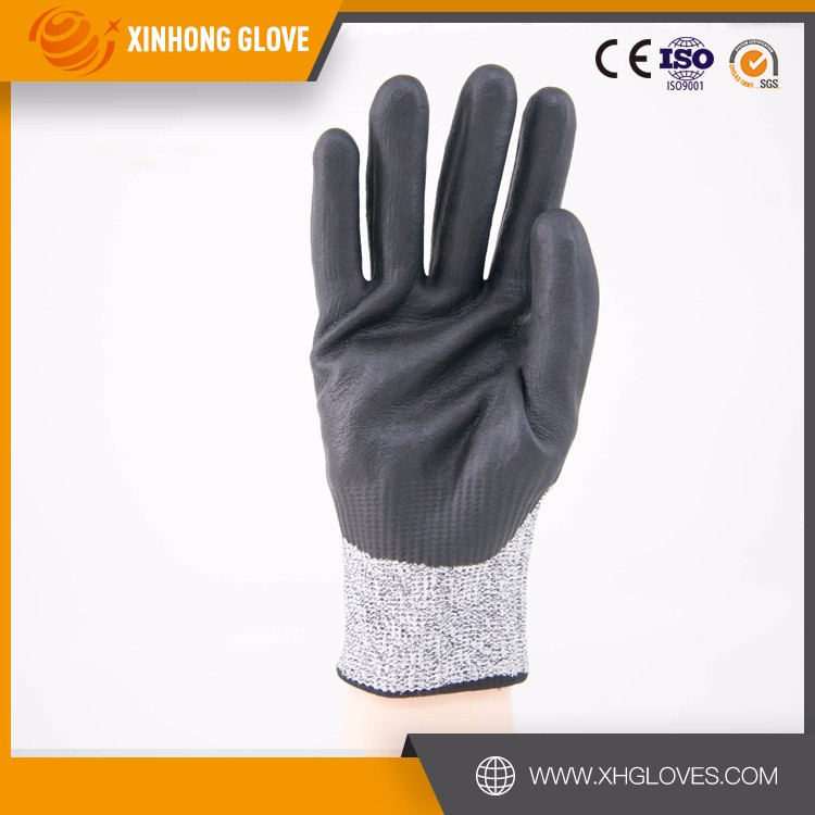 2016 hot sell latex coated cut heat resistant surgical glove