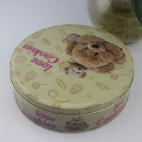 Hot Sale Round Chocolate Tin Can , Snacks Tin Packaging , Tin Box/Can