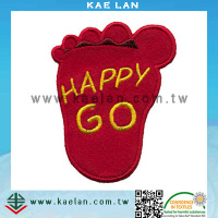 Baby foot wholesale design embroidery patch for clothing/jeans/jacket