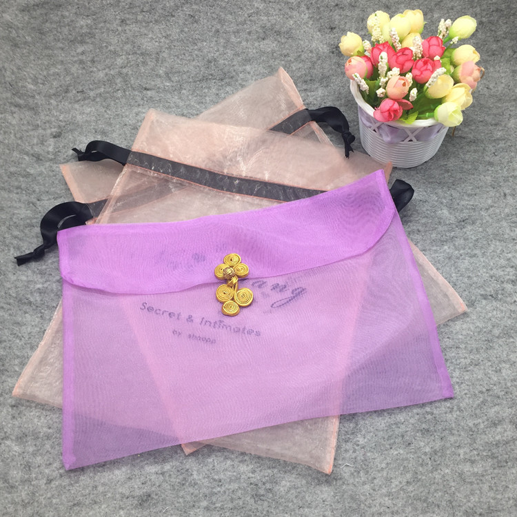 Organza Jewelry Packaging Bag Small Drawstring Pouch packing bag Top grade Organza Gift Bag with drawstring